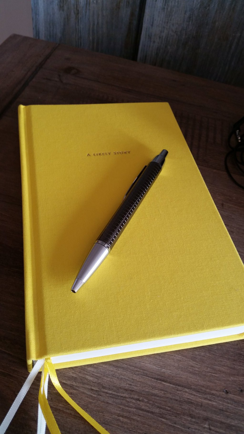 My shiny new notebook and pen